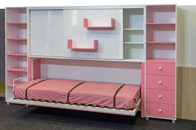 Pink wall beds in Sydney